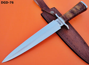 "RAM-DGD-76- D-2- 15.0"" Inches Dagger Knife - Rose Wood Handle"
