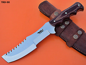 TRD-90 Custom Handmade D2 Tool Steel Tracker Knife- Two Tone Micarta Handle