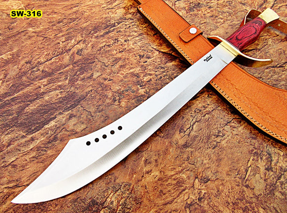 SW-316, Custom Handmade Steel 24 Inches Hi Carbon Steel Sword - Solid Doller Sheet with Brass Guard