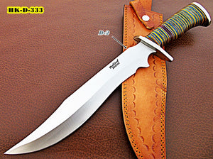 REG-HKD-333, Handmade DIE Steel (D2) 17 Inches Hunting Knife – Beautiful Three Tone Micarta Handle with Carbon Steel Guard