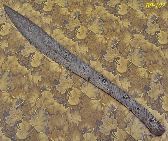 BB-107 24.00 Inches Handmade Damascus Steel Full Tang Blank Blade