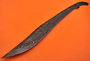 BB-11 30.00 Inches Handmade Damascus Steel Full Tang Sword - Blank Blade