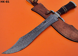 REG- HK - 81 Damascus Steel 17.5 Inches Knife – Stunning Black Rose Wood Handle