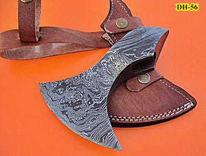 DIST DH-56 Handmade Damascus Steel AXE Head - Rock Solid - Stunning Pattern