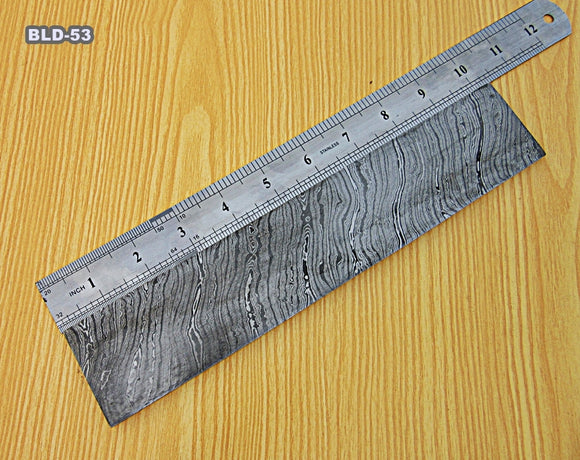 BLD-53, CUSTOM HANDMADE DAMASCUS STEEL BILLET/ BLANK BLADE MAKING BAR