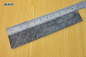 BLD-51, Custom Handmade Damascus Steel Billet/Blank Blade Making BAR