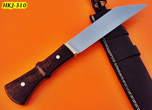REG-HKJ 310 - Custom Handmade High Carbon Steel SEAX Knife - Stunning Rose Wood Handle