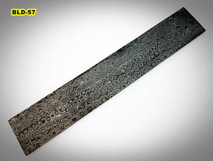 BLD-57, Custom Handmade Damascus Steel Billet Knife/Blank Blade Making Bar