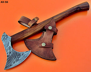 DIST AX-56 Custom made Damascus Steel Axe - Gorgeous and Solid