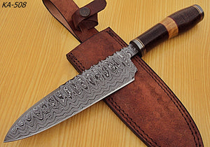 RK-KA-508 12.50 Inches Damascus Steel Chef Knife - Perfect Grip Handle