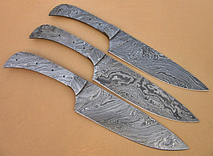 LOT-BBC-663,  Handmade Damascus Steel 12 Inches Full Tang Chef Knife Set with Damascus Steel Bolsters