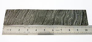 BLD-52, CUSTOM HANDMADE DAMASCUS STEEL BILLET/ BLANK BLADE MAKING BAR