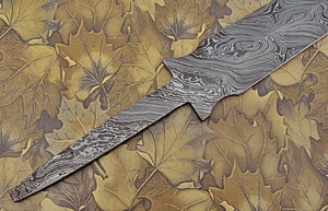 BB-106 24.00 Inches Handmade Damascus Steel Full Tang Blank Blade