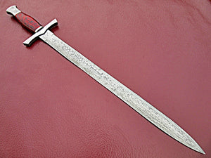 Sw-322, Handmade Damascus Steel 28 Inches Sword - Beautiful Doller Sheet Handle