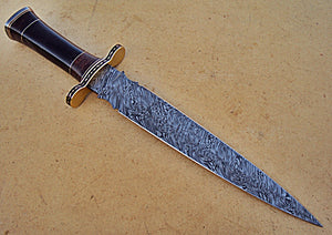 RAM-DG-255, Full Damascus Double Round Edge Dagger Knife – Great Piece of Art