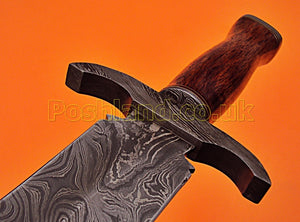 SW-151 Handmade Damascus Steel 30 Inches Sword -  Marindi Wood Handle with Damascus Steel Guard