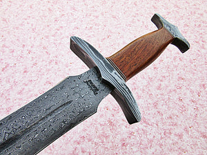 Sw-312 B, Handmade Damascus Steel 26.4 Inches Sword - Solid Rose Wood Handle with Damascus Steel Guard