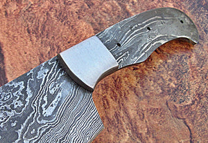 BBC-657,  Handmade Damascus Steel 12 Inches Full Tang Chef Knife with Stainless Steel Bolster - Best Quality Blank Blade