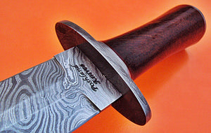 RAM-DG 83 Damascus Steel 15.0 Inches Dagger Knife – Red Rose Wood Handle