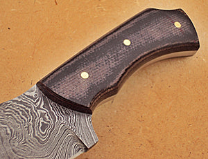 SK-265, Custom Handmade Damascus Steel Knife – Two Tone Micarta Handle