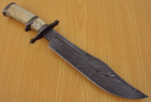 REG-L-1313- Custom Handmade Damascus Steel 15.00 Inches Hunting Knife