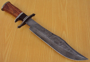 "REG-L-1311- Custom Handmade Damascus Steel 14.7"" Inches Hunting Knife."