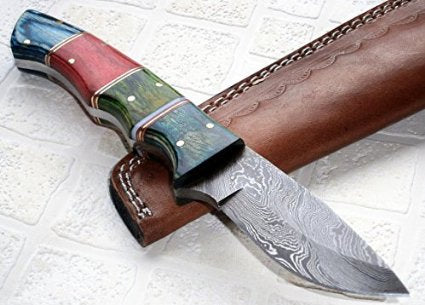 BC-121, Custom Handmade Damascus Steel Knife – Gorgeous Exotic Wood Handle