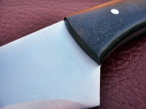 SW-U-224, Custom Handmade Steel 21.2 Inches 440C Stainless Steel Sword - Solid Blue Jean Micarta Handle