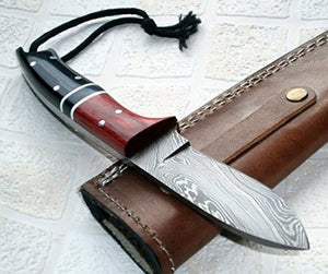 BC-119, Handmade Damascus Steel Knife - Ideal for Hunting and Bushcraft