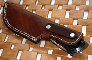 BC-2040, Custom Handmade Full Tang Damascus Steel Bushcraft Knife- Stunning Easy Grip Handle
