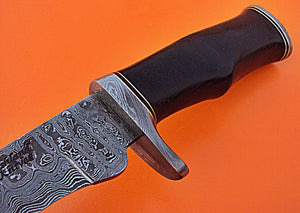 REG- HK - 80 Damascus Steel 14.4 Inches Knife – Stunning Black Rose Wood Handle