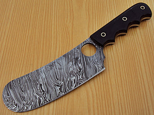 CP-30, Custom Handmade Damascus Steel 10.4 Inches Chopper Knife – Solid Bull Horn Handle
