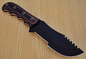 TR-61- Custom Handmade Hi-Carbon Steel (1095) 10.00 Inches Tracker Knife.