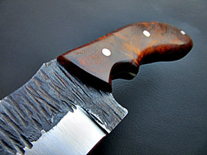SK-1124, Custom Handmade Hi Carbon Steel Skinner Knife - Exotic Rose Wood Handle