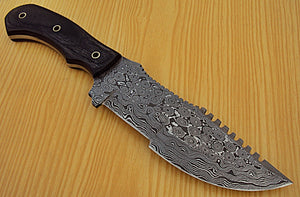 "TR-N-37- Custom Handmade 11.0"" Inches TRACKER Knife."
