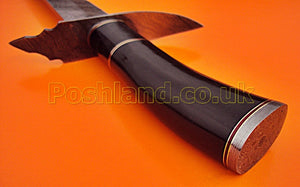 SW-147 Handmade Damascus 26.4 Inch Sword -  Beautiful Buffalo Horn Handle with Damascus Steel Guard