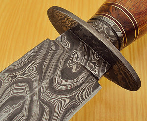 RAM 1329 Custom Damascus Steel 11.40 Inches Dagger Knife - Gorgeous Exotic Handle