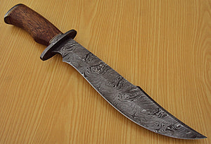 "REG-M-22 b Custom Handmade Damascus Steel 15.1"" Inches Hunting Knife."