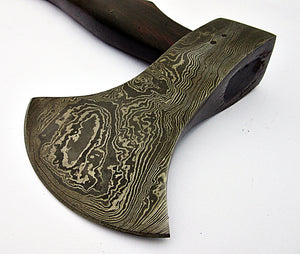 DIST Ax-251, Custom Handmade Damascus Steel 13.4 Inches Axe - Beautiful Rose Wood Handle