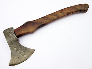 AX-257  Custom made Damascus Steel Axe - Gorgeous and Solid