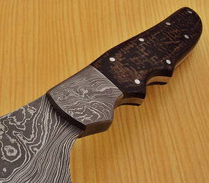 "REG-L-1315- Custom Handmade Damascus Steel 16.1"" Inches Hunting Knife."