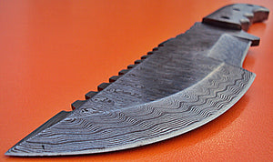 "REG-TR-126.Handmade Damascus Steel 12.0"" Inches Full Tang Tracker Knife"