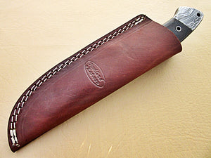 SK-353, Custom Handmade Damascus Steel Skinner Knife - Best Quality Canvas Micarta Handle