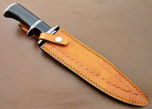 REG-HK-340, Handmade Damascus Steel 14 Inches Bowie Knife - Perfect Grip (G-10) Micarta Handle with Damascus Guard