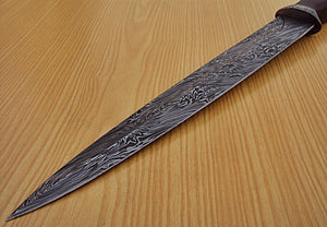 "RAM-HO-222- Custom Handmade Damascus Steel 17.0"" Inches Dagger Knife."