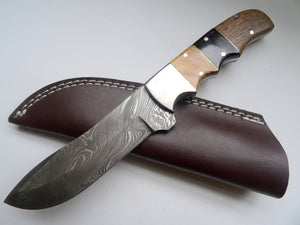 "Stunning Handmade Damascus Steel 9"" Inches Knife With Wood Handle - (Item Code : BK 2133)"