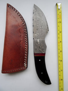 "Stunning Handmade Damascus Steel 8.5"" Inches Knife With Bull Horn Handle - (Item Code : BK 21371)"