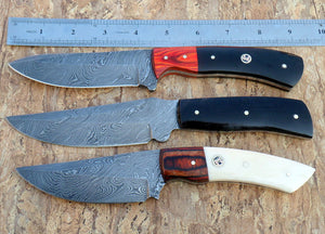 RG007 Custom Handmade Damascus Steel Knives- Ideal for Hunting & Bushcraft