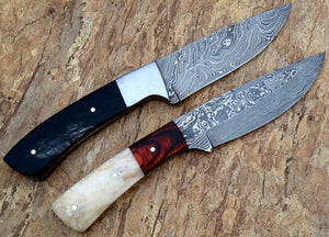 Rg-018 Custom Damascus Steel Knives- Ideal for Hunting & Bushcraft