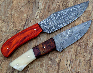 Rg-019 Custom Damascus Steel Knives- Ideal for Hunting & Bushcraft